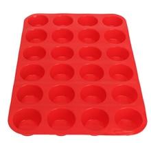24 Mini CupCake silicon mold