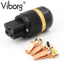 Viborg VF520 99.99% Pure Copper 20A IEC Connector HIFI AC Female Plug