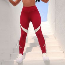 ZOGAA Cross-border New quick-drying White Strip Stitching women Nine Points Running Sports Fitness Limb Pants