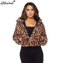 ISHINE moda leopardo sombrero de felpa capa camisa femenina para el otoño y  el invierno ropa nueva capa de lana Artificial 059697cf374