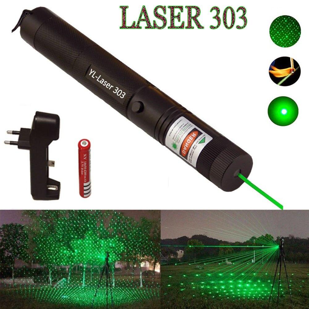 Grün Laser anblick High Power jagd Grün Dot taktische 532 nm 5 mw 303 laser pointer verde lazer Stift Kopf brennen Spiel