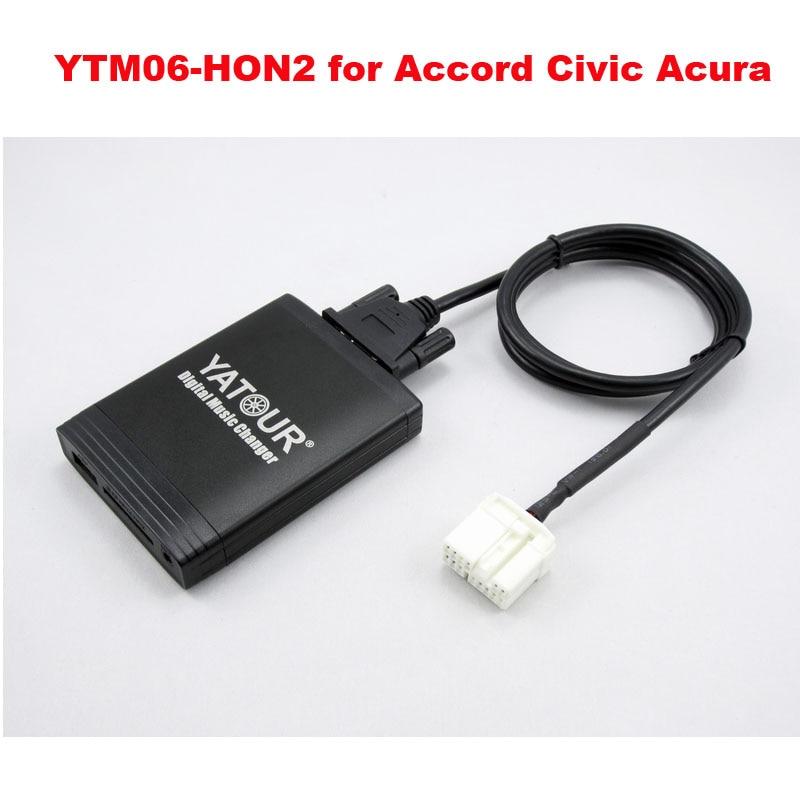 Yatour car radio MP3 player for Acura Honda Accord Civic CRV Odyssey Pilot USB SD AUX