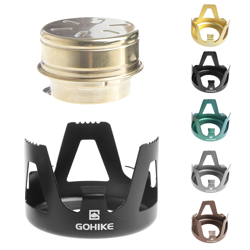 OOTDTY Outdoor Cooking Picnic Alcohol Stove Camping Furnace Portable Stainless Steel stoves Brand New Drop Shipping ...