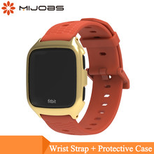 Mijobs Soft Silicone Replacement Sport Wristband Watch Band Strap for Fitbit Versa Replacement Smartwatch Band Wrist Bracelet(China)