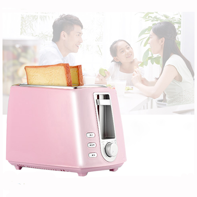 Pink Household Automatic Toaster Breakfast Spit Driver Kitchen Breakfast Machine Heating Thawing Baking 220V tinton life household bread baking machine kitchen appliance toaster for breakfast