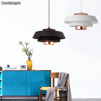 LED Pendant Lights Nordic vintage loft pendant light iron lampshade lamps for living room/bedside lighting E27 holder fixture