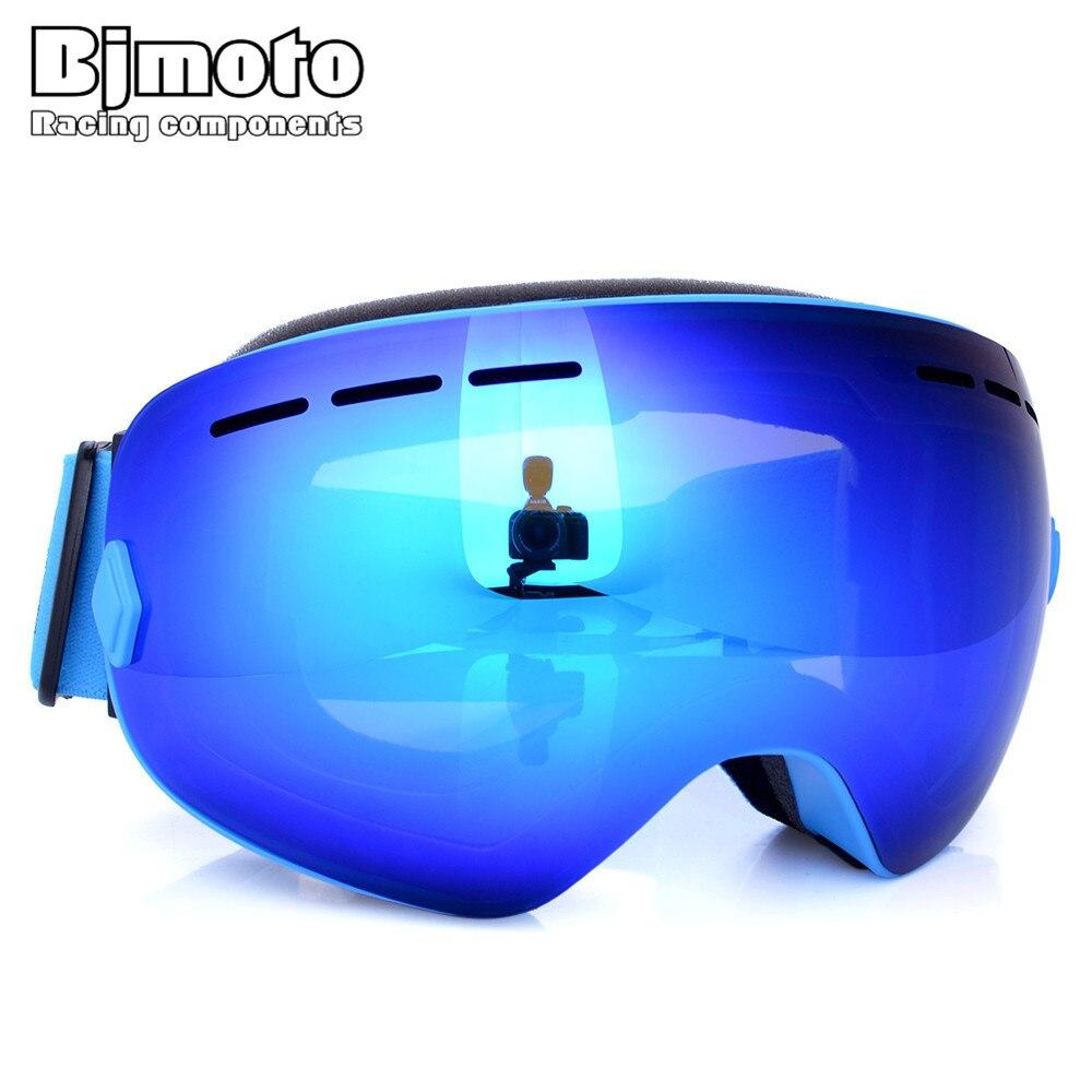 Bjmoto снег очки для катания на сноуборде двойной Анти-Туман Лыжные сноуборд, лыжи Googles зимние очки