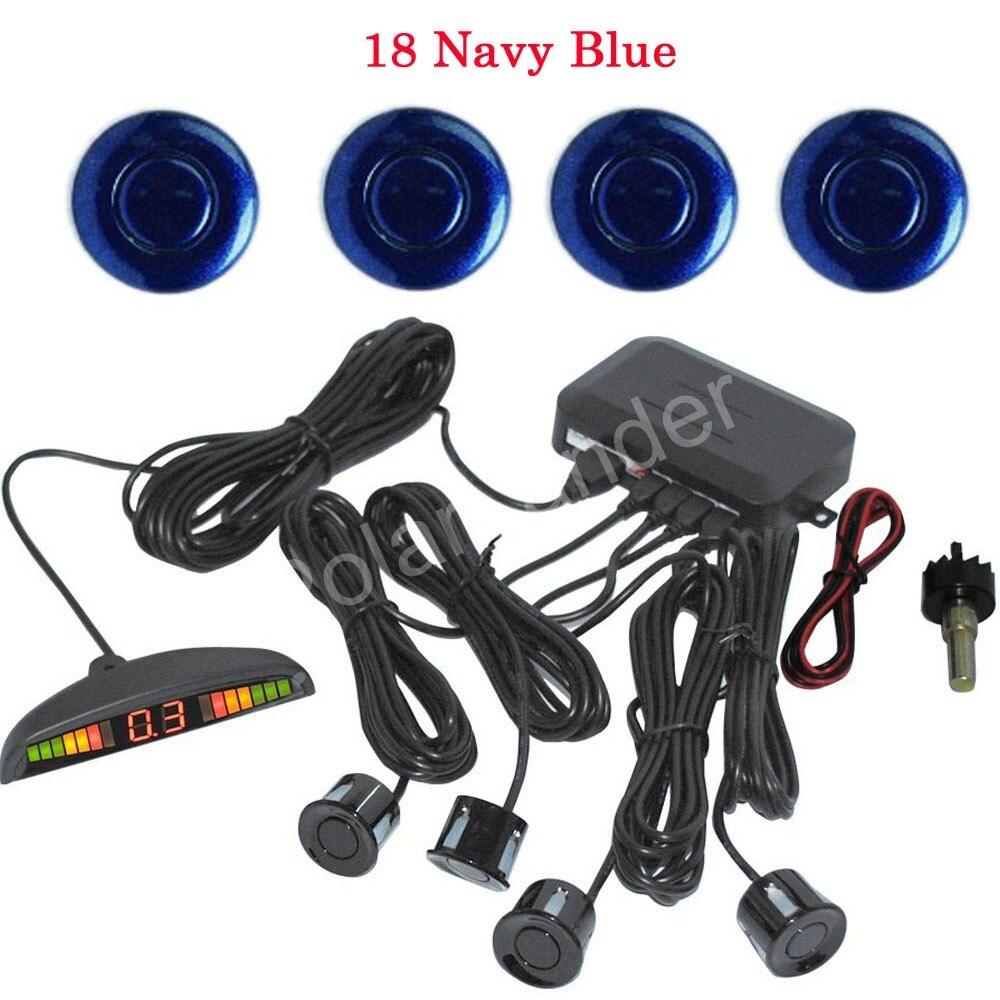 new arrival 44 color LED parking sensor parking assistance car Parking Reverse Radar with 4 Sensors 12V high quality