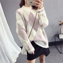 купить Winter Turtleneck Pullover Sweater 2018 New Women Tops Color matching Warm Sweaters Female High Collar Warm Knit Pullovers NO622 онлайн