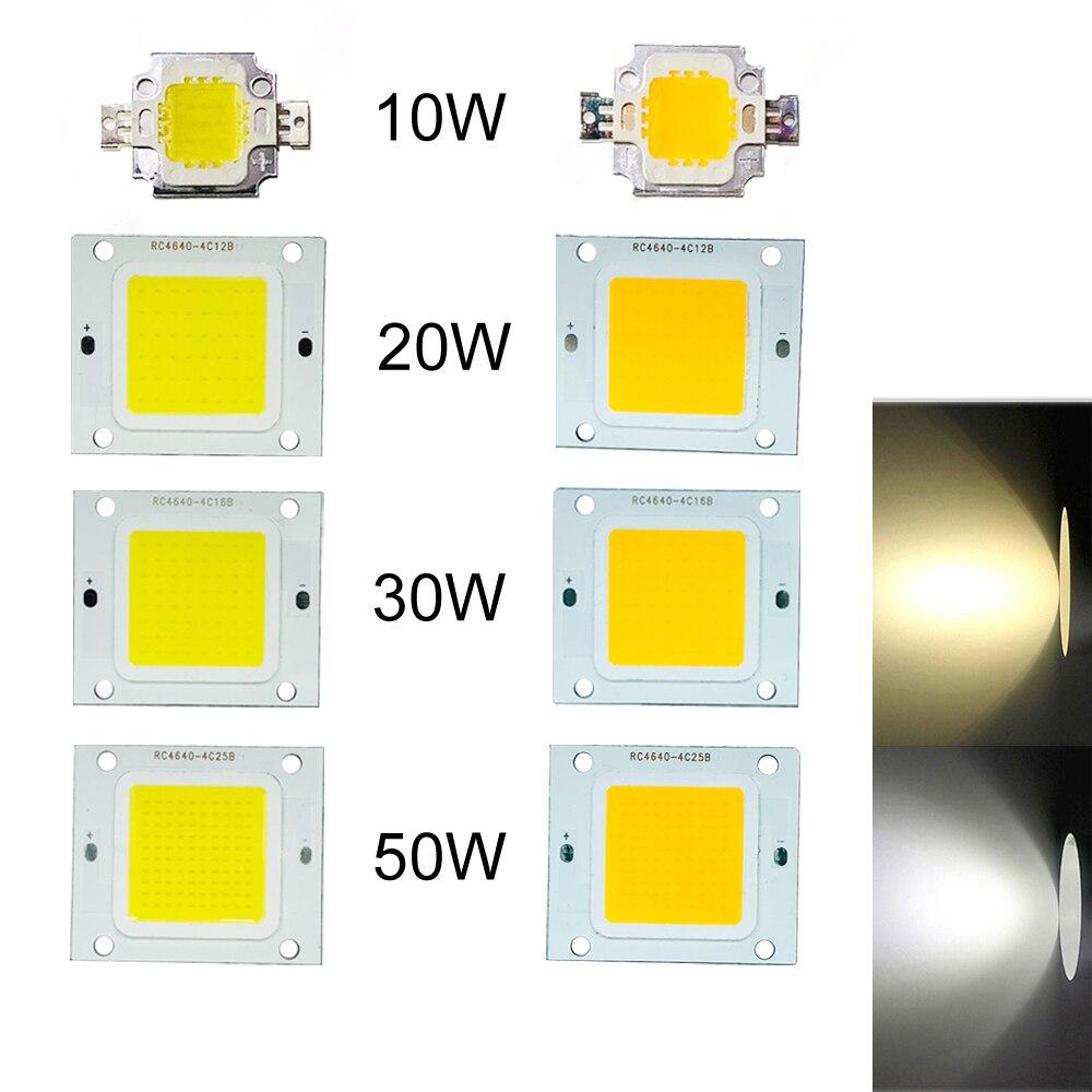 10W-50W Flood Light SMD Diode Bead 1X 2X 10X LED Chip DC12V High Power COB