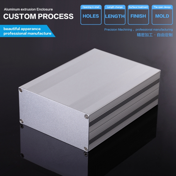 145x68x200mm Extruded Aluminum Enclosure Case /Electronic Projects Box DIY for Instrument PCB/custom aluminum enclosure black extruded aluminum enclosure box pcb instrument box diy electronic project case 80x50x20mm
