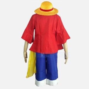 Image 3 - Một mảnh hai năm trước Monkey D luffy cosplay costume halloween cosplay cho nam giới trưởng thành nhật bản phim hoạt hình lễ hội boy ăn mặc tóc giả