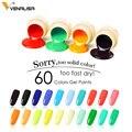 180 Solid Colors Nail Art Designs VENALISA 2019 Hot Sale Soak Off Paint Gel UV LED Ink Color Paint Gel Nail Varnish Gel Lacquer