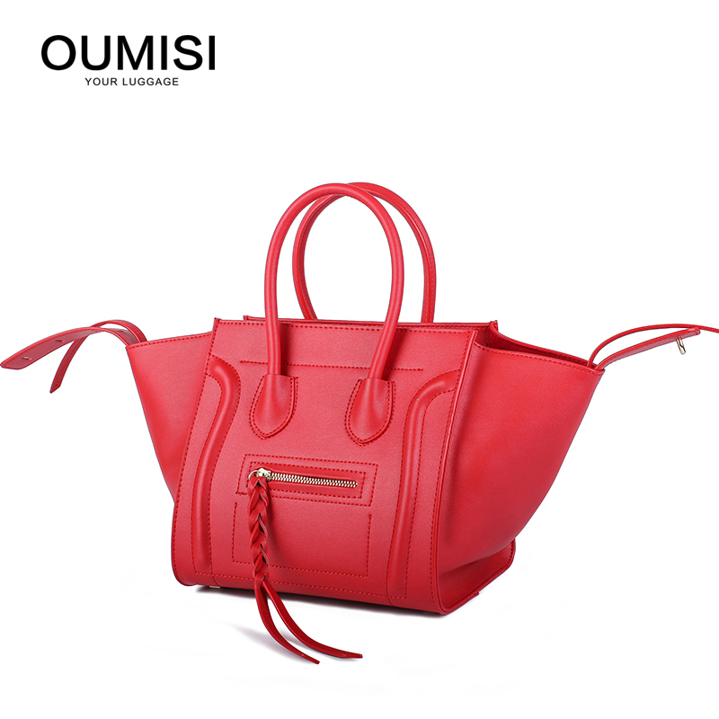 2018  Fashion Women Designer Celebrity Leather Smile face handbag Shoulder Satchel Hand Bag Styles Totes crossbody bags 1122 summer fashion bowknot women leather handbag totes fashion korean style hand bag female hand bags designer red ladies purse