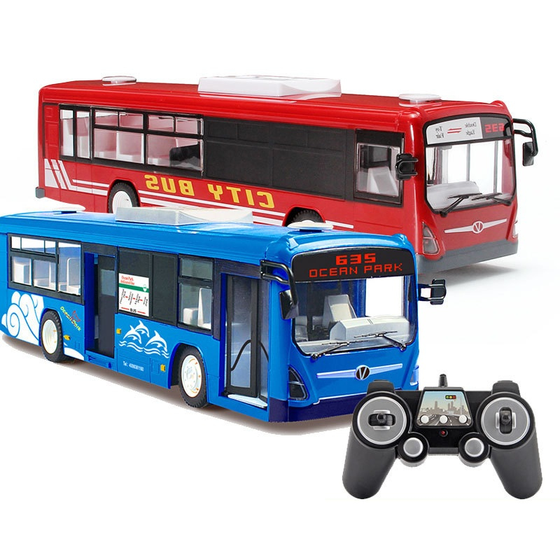 2018 Hot Boy Recharge RC Bus Car Toy E635 2.4G Large One Key Auto Open Door Remote Control Simulation City Bus Borthday Gift rally car with a key to open the door automatically shoupeng simulation remote control car remote control cars rc car rc toy