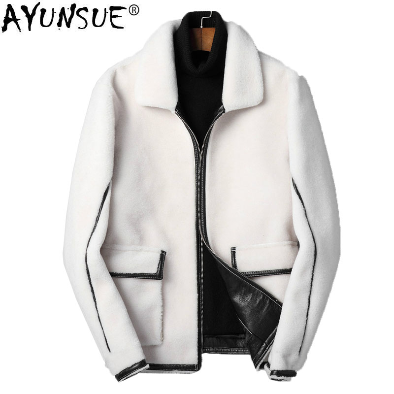 Echtpelz Kj1426 Jacke 100 White Wolle Mantel Caramel Herren