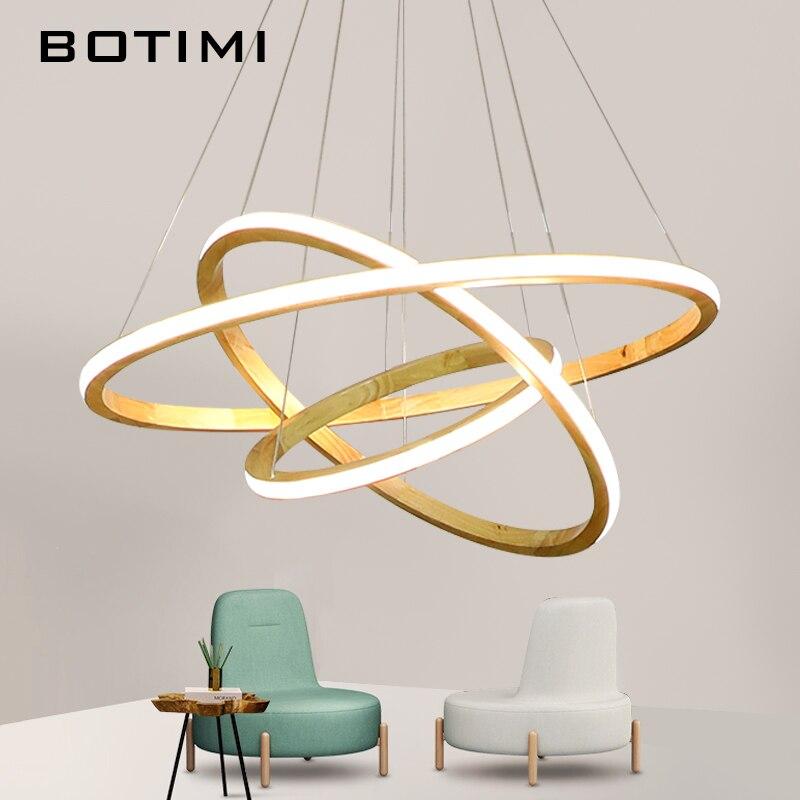 BOTIMI 220 V LED luces colgantes para comedor anillos de ...
