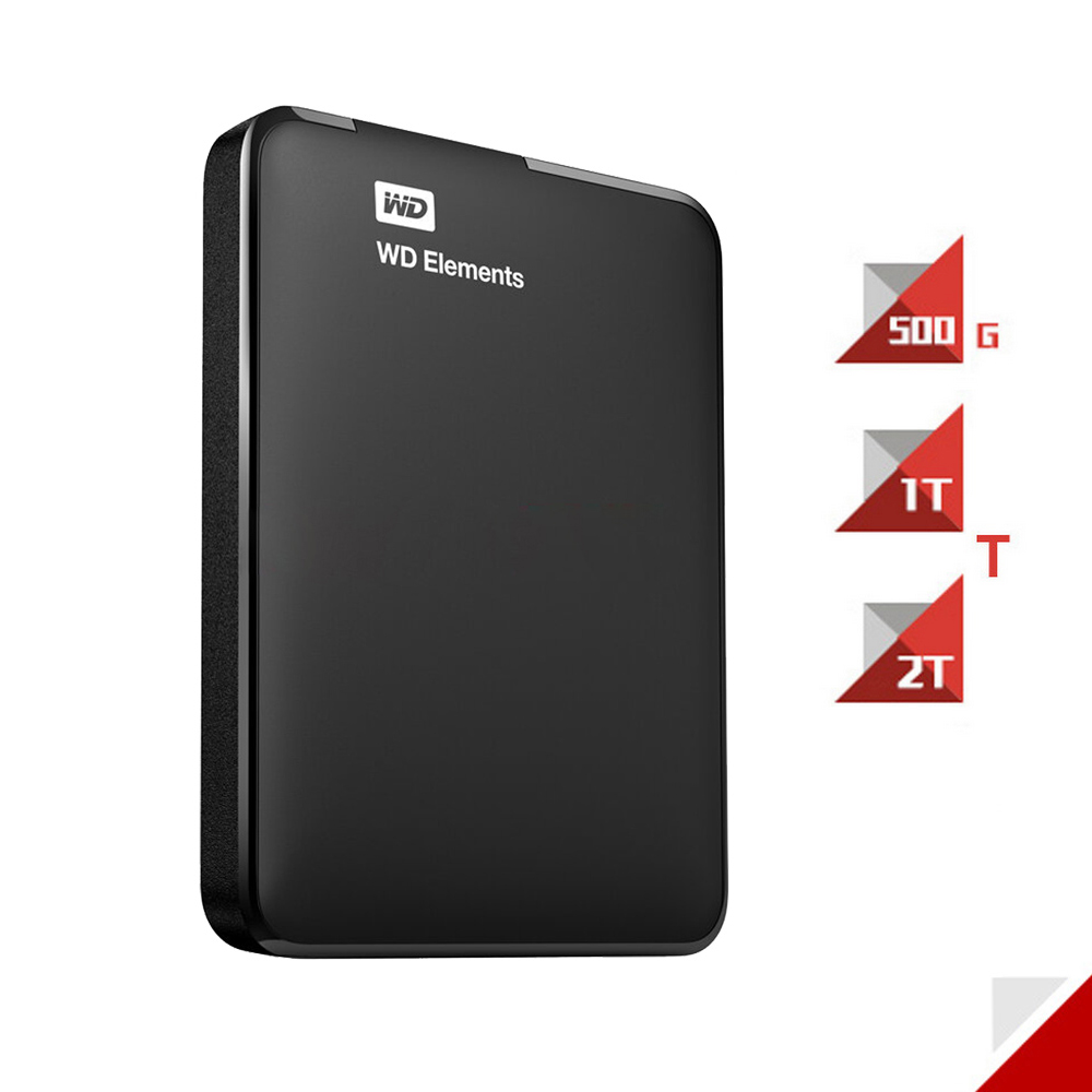 Western Digital HDD External Hard Drive WD Elements 500G 1TB 2TB USB 3.0 Hard Disk Hdd 2.5 Inch Portable HDD Hard Drive(China)