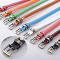 2015 new classic candy color leather /PU all-match fashion ladies belt collocation jeans fine super soft belt