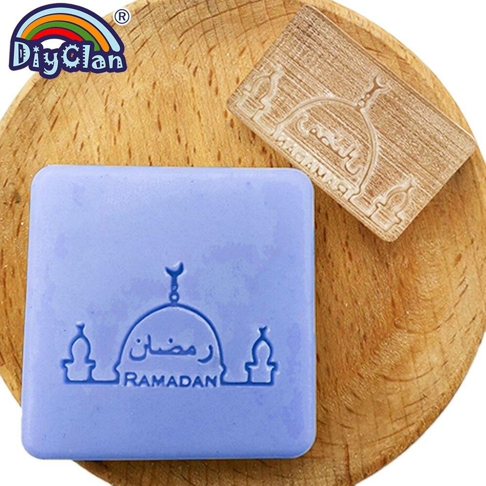 Image 2 - Ислам Рамадан мыльный штамп Diy Ручная работа мусульманское  арабское здание прозрачный мыльный штамп для Рамазана креативный подарок  изготовлениеШтампики