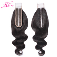 Ms Love 2x6 Closure Body Wave Peruvian Hair 2*6 Lace Closure Kim K Human Hair Closure Non Remy Natural Hair Extension