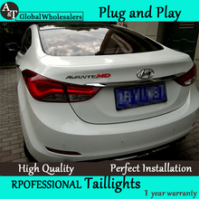 A&T Car Styling for Hyundai Elantra Tail Lights Korea Design New Elantra MD Tail Light Rear Lamp DRL+Brake+Park+Signal
