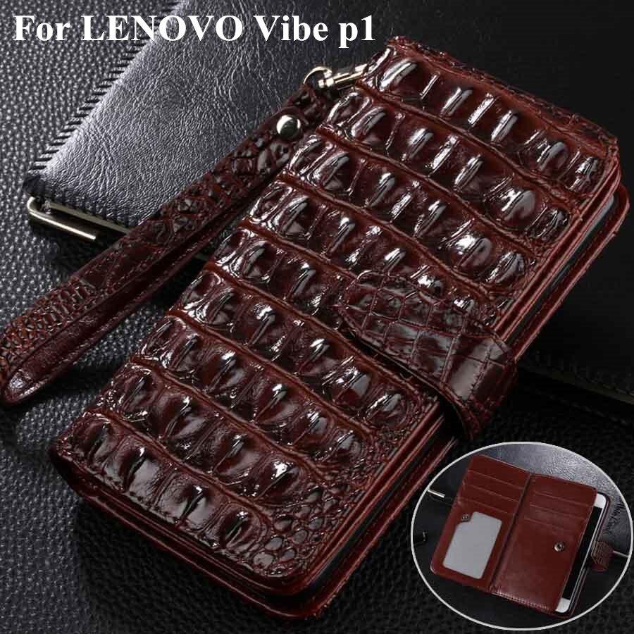 imágenes para Multifunción Estilo de la Carpeta de Cuero Funda Para El Lenovo Vibe P1 caso de La Manera Cubierta Del Tirón Para El Lenovo Vibe Teléfono Móvil P1 bolsa