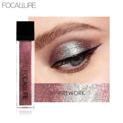 Focallure New Shimmer Glitter Liquid Eye Shadow Stick Waterproof 10Colors Gold White Luminous Pigments Beauty Eyeshadow Makeup
