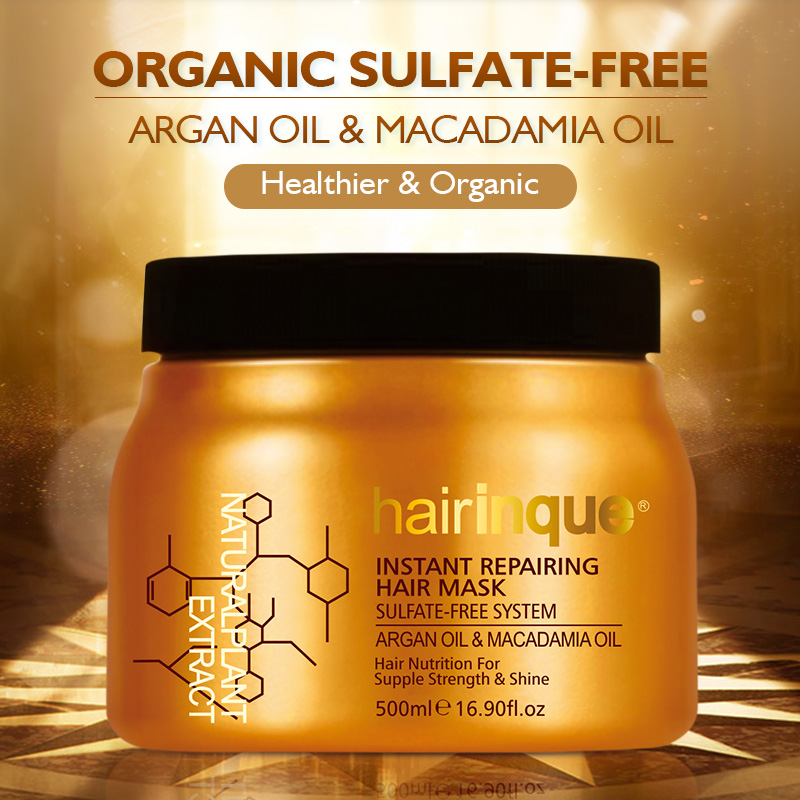 HAIRINQUE Sulfate-free system instant repairing hair mask Argan oil and Macadamia nut oil hair nutrition hair mask treatmentHAIRINQUE Sulfate-free system instant repairing hair mask Argan oil and Macadamia nut oil hair nutrition hair mask treatment