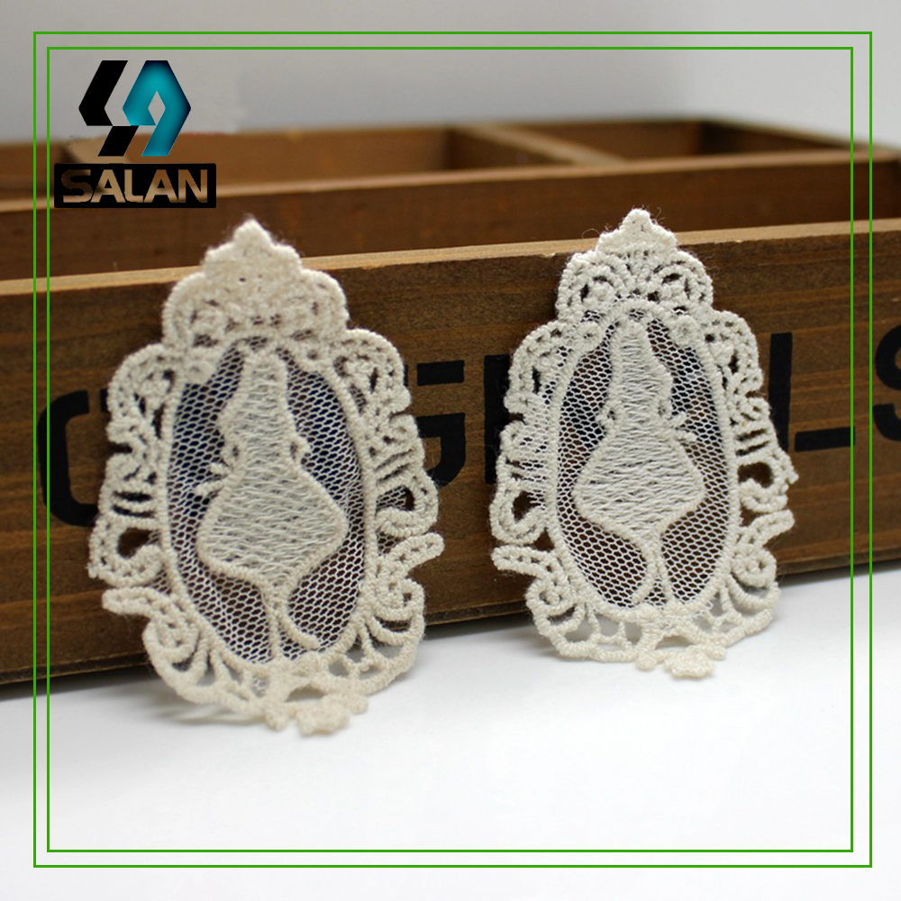Factory direct handmade clothing accessories diy material water soluble embroidery lace little girl cloth stickers / flower stic