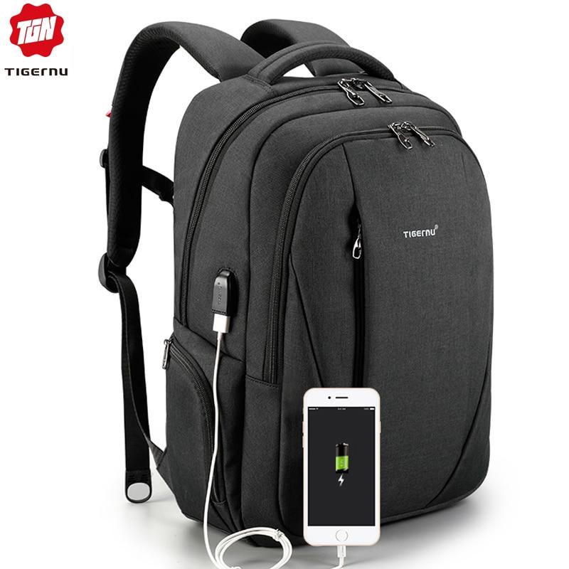 bfdcd8dee59c Tigernu Multifunction USB Silm 15.6 Laptop Backpacks Men Anti theft Backpack  School Bags for Teenagers Women