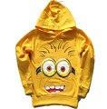 Polerones minion 2015 minions hoodies camisolas para meninas meninos moletom moleton infantil roupa dos miúdos vestidos