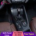Novos 3 Tipos de Mudança de Carro Painel de Guarnição Proteção Cobertura Turno tampa da Etiqueta para a BMW X1 F48 LHD 2016 2017 Carro acessórios