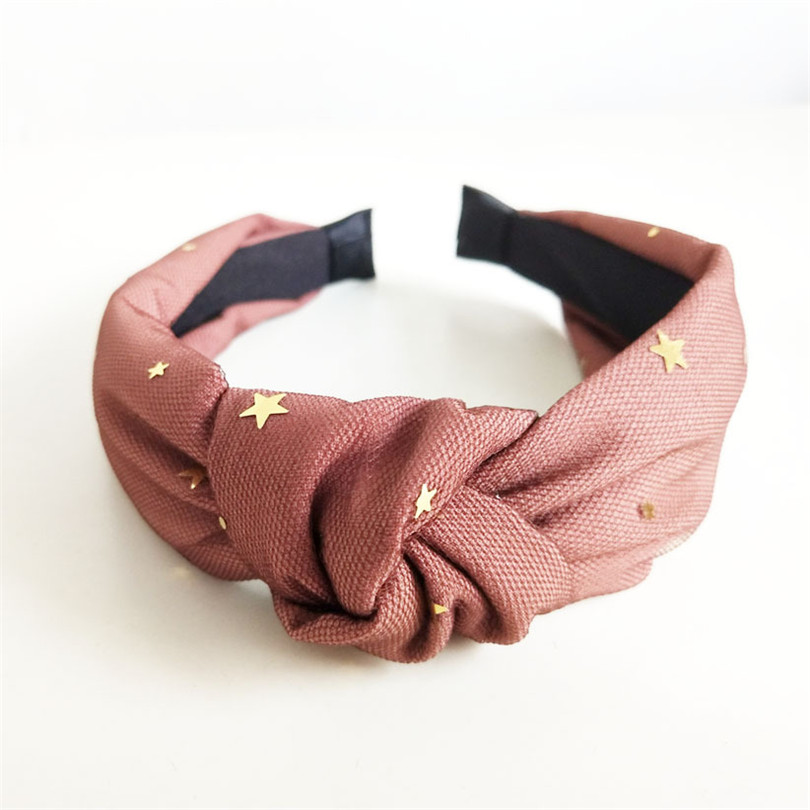 Yarn Stars Headband Stripe Elastic Hair Bands For Women Girls Holiday Wide Turban Head Bands Hair Accessories
