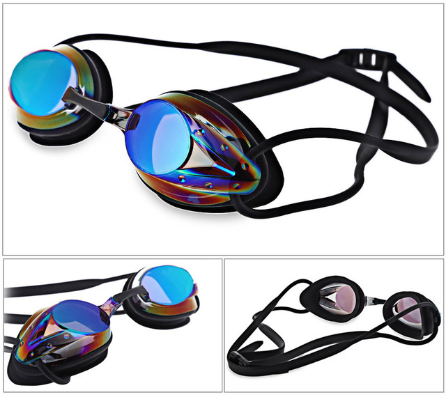 e8e00a5714f UV Protection anti fog racing swim goggles Plated polycarbonate silicone swim  eyewear for unisex Durable PP box protect goggles