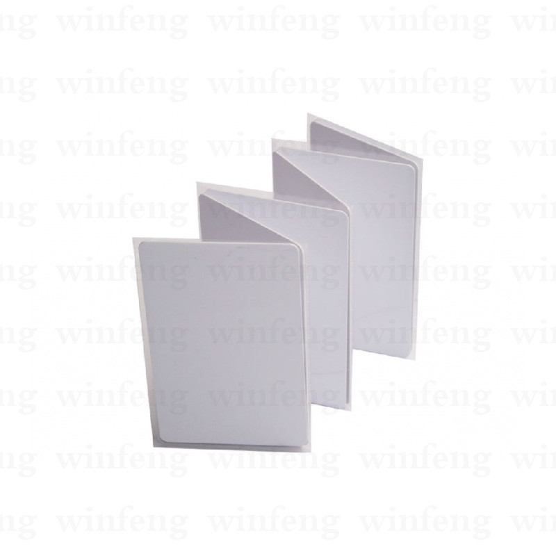glossy finish overlay lamination proximity 125khz rfid TK4100 smart chip blank card read-only for thermal printer 400pcs/lot