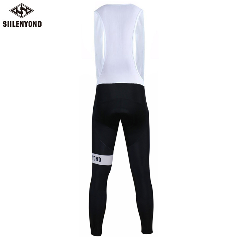 Siilenyond 2019 Winter Pro Keep Warm Cycling Bib Pants Thermal Cycling Bib Tights With 3D Coolmax Gel Padded For Men 2