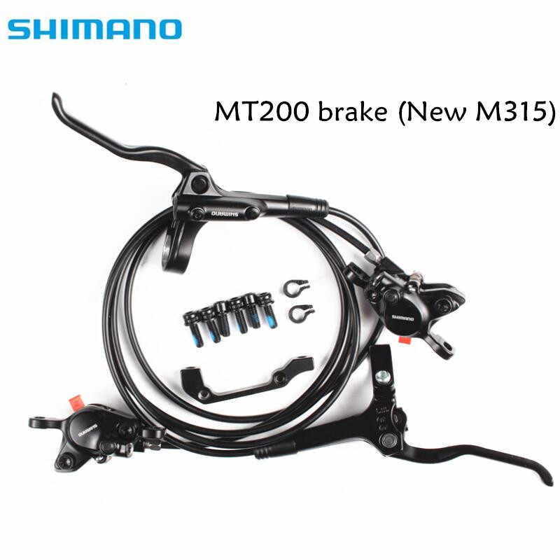 Shimano BR-BL-MT200 M315 Rem sepeda sepeda mtb Hydraulic Disc brake set penjepit sepeda gunung Rem Rem Update dari M315