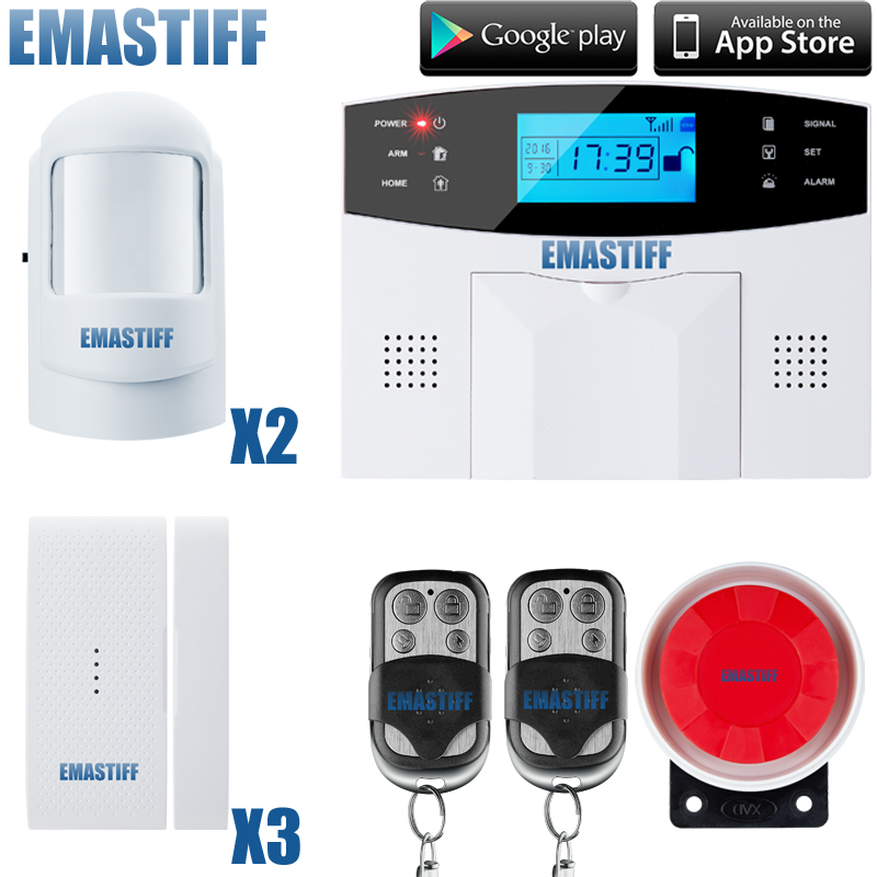 DHL Free Shipping!Spanish French English Russian Voice language 106 zone wireless and wired LCD GSM alarm system with intercom english language and bilingualism