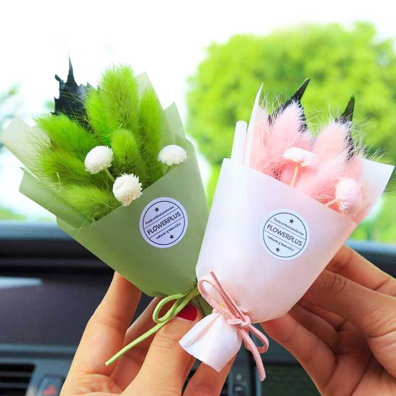 Auto Car Air Freshener Natural plants Dry Flower Creative Air Conditioning Air outlet Perfume Clip Fragrance Diffuser wholesale