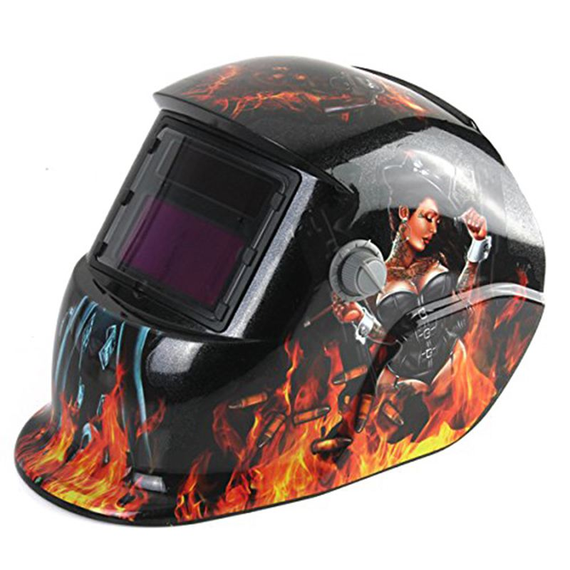 THGS Welding Helmet Auto Darkening Solar Powered Weld/Grind Selectable Mask Protector for Arc Tig Mig Grinding Plasma Cutting km 1600 welding mask arc tig mig weld solar auto darkening helmet