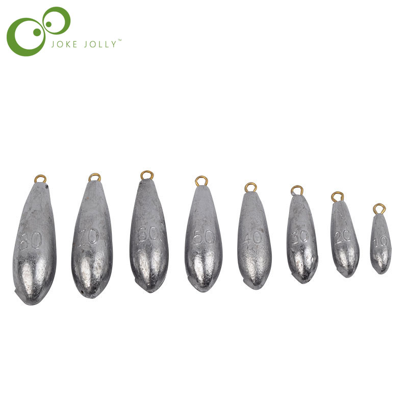 Sinkers Lead Fishing-Accessories Weight-Size 5pcs/Lot GYH Water-Droplets 70g/80g