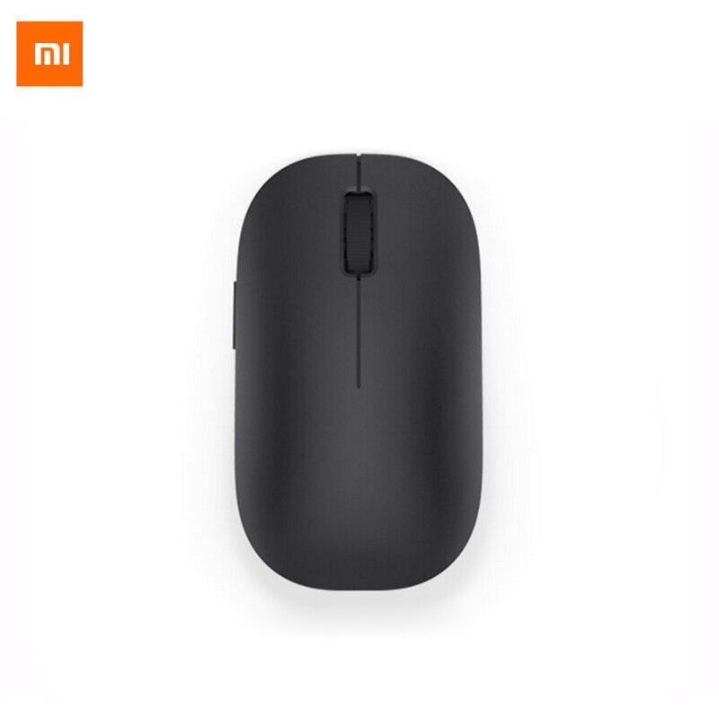 Nuevo Original Xiaomi Mi ratón inalámbrico ratón negro 2,4 GHz 1200 dpi portátil para Macbook Windows 8 Win10 ordenador portátil Video juego