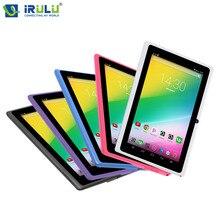 """Original X3 eXpro iRULU 7 """"Tablet Android 6.0 Quad Core 16 GB ROM 1 GB RAM WIFI OTG 1024*600 de ALTA DEFINICIÓN de APLICACIONES de Google Play con el Teclado"""