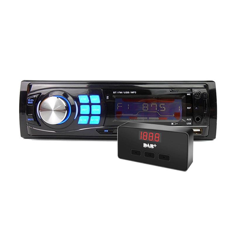 1DIN BT autoradio autoradio Auto lecteur MP3 Bluetooth mains libres In-dash Double USB + DAB antenne récepteur de Signal Radio