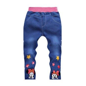 2018 nowa wiosna jesień dzieci ubrania dla dzieci dziewczyny chłopcy dżinsy dzieci cartoon spodnie kitty spodnie detal 2-5 lat