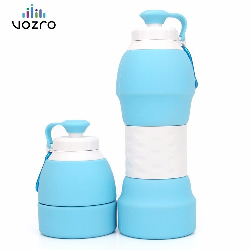 VOZRO 580ML Water Bottles My Drink Bottle . Shaker Botella Botellas Bouteille Garrafa Termica Silicone Folding Outdoor Kettle|Water Bottles|   - AliExpress