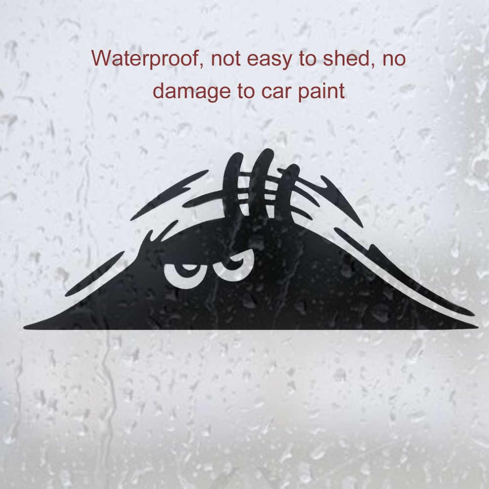 DIY Reflective Waterproof Fashion Funny Peeking Monster Car Sticker vinyl decal decorate sticker car styling hot selling