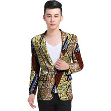Mens African blazer bright colored print customed made suit coat for wedding/party unique design dashiki african clothing