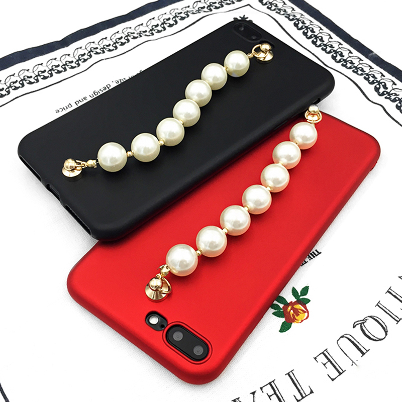 LOVECOM-New-Shining-Candy-Color-DIY-Luxury-Bling-Glitter-Pearl-Chain-For-iphone-6-6S-Plus (3)